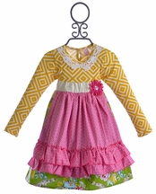 Giggle Moon Apron Dress in Glory Shines (3Mos,6Mos,12Mos,4T,4)