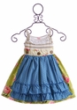 Giggle Moon Baby Green Pastures Tillie Apron Dress - Size 6X & 7