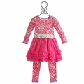 Giggle Moon Candy Cane Petti Dress with Legging