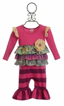 Giggle Moon Eternal Bliss Baby Girl Romper (Size 6 Mos)