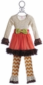 Giggle Moon Fall Blossom Girls Tutu Dress with Legging