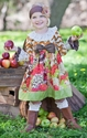 Giggle Moon Fall Blossom Lucy Dress with Bow