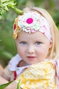 Giggle Moon Girls Floral Headwrap Honeycomb and Blossoms