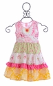 Giggle Moon Girls Party Dress Honeycomb and Blossoms
