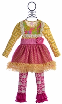 Giggle Moon Glory Shines Tutu Dress with Legging (4T,4,6)
