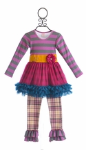 Giggle Moon Golden Crown Tutu Dress and Legging (Size 18Mos)