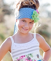 Giggle Moon Green Pastures Floral Headwrap