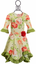 Giggle Moon Hanky Dress with Roses