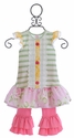 Giggle Moon Honeycomb and Blossoms Mabel Dress with Capri Leggings