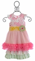 Giggle Moon Honeycomb and Blossoms Tutu Dress with Ruffle Capri Pants