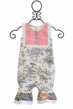 Giggle Moon Infant Romper Paradise Garden (NB,3Mos,6Mos,9Mos)