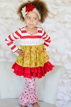 Giggle Moon Maddison Dress with Legging White As Snow