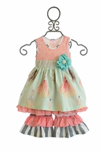 Giggle Moon Maddison Dress with Ruffle Pants Singing Praises