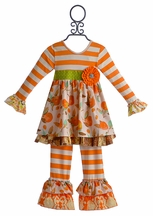 Giggle Moon Maddison Girls Outfit Thankful Hearts (4,6,6X,7)