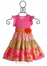 Giggle Moon Morning Glory Girls Party Dress (Size 12Mos)