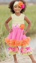 Giggle Moon Morning Glory Tutu Dress with Capri