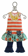 Giggle Moon New Song Mabel Dress with Ruffle Capri Leggings (3Mos,5,6,10)