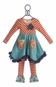 Giggle Moon Peace and Joy Tunic and Pant for Girls