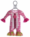 Giggle Moon Pink Girls Romper Glory Shines