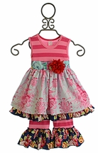 Giggle Moon Pure in Heart Maddison Dress with Pants (3Mos,6Mos,6X)