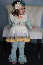 Giggle Moon Sea of Glass Tutu Dress with Leggings