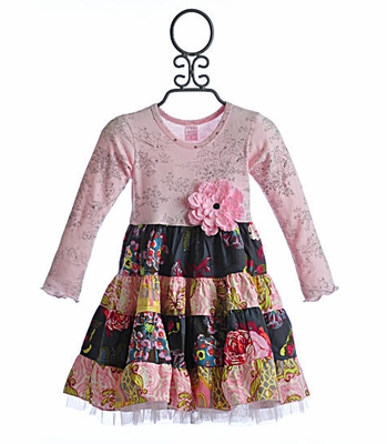 Giggle Moon Silver Bells Girls Party Dress