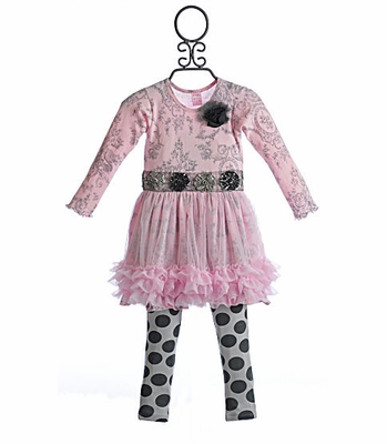 Giggle Moon Silver Bells Tutu Dress with Legging