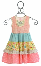Giggle Moon Singing Praises Party Dress for Girls (6Mos,6X,7)