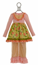 Giggle Moon Stella Dress with Ruffle Pants Harvest Fields
