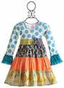 Giggle Moon Streams of Water Party Dress for Girls