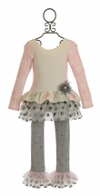 Giggle Moon Tutu Swing Set Graced in Pink and Gray (3Mos,6Mos,9Mos,6X)
