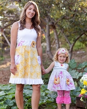 Giggle Moon Womens Honeycomb and Blossoms Dress