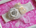 Girls Handmade Vintage Inspired Ivory Headband