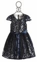 Halabaloo Elegant Girls Dress in Blue Lace