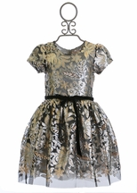 Halabaloo Floral Print Party Dress (24Mos,6,7)