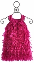Halabaloo Girls Fuchsia Feather Dress