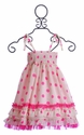 Halabaloo Girls Polka Dot Dress in Pink