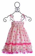Halabaloo Girls Polka Dot Dress in Pink (12Mos & 18Mos)