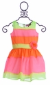 Halabaloo Neon Girls Party Dress