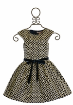 Halabaloo Party Dress for Girls in Navy (4T,5,7)