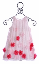 Halabaloo Pink Tulle Dress with Rosettes (2T,4,5,6)