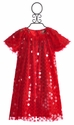 Halabaloo Red Sequin Holiday Dress for Girls