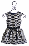 Halabaloo Scalloped Girls Dress with Bow (2T, 4, 5)