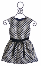 Halabaloo Scalloped Girls Dress with Bow (2T & 5)