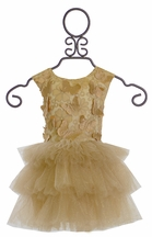Halabaloo Tulle Butterfly Dress Gold Butterfly