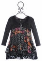 Hannah Banana Anthropolo-chic Girls Black Tiered Dress