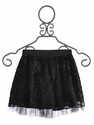 Hannah Banana Black Flower Girls Tutu Skirt