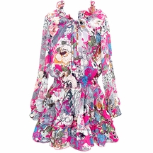Hannah Banana Boho Dress with Flowers for Tweens