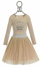 Hannah Banana Crown Skirt Set in Ivory and Gold