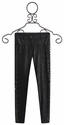 Hannah Banana Faux Leather Tween Jegging with Studs (Size 14)